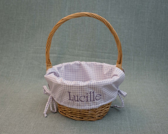 Easter Basket Liner Personalized With Embroidered Name