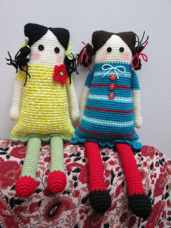 Simple Amigurumi Doll : Tutorial Amigurumi Doll / Crochet Toy PDF / DIY Easy Crochet