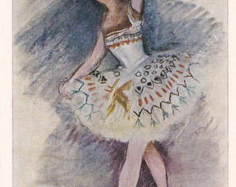 Vintage Serebryakova (Ballerina Heidenreikh) Postcard - 1975. Fine Arts Publ., Moscow