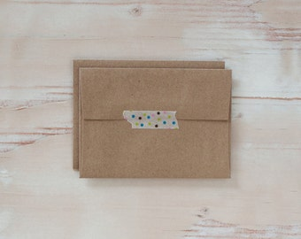 Brown Kraft Envelopes - 4 Bar / A1 - Square Flap - 25 pc