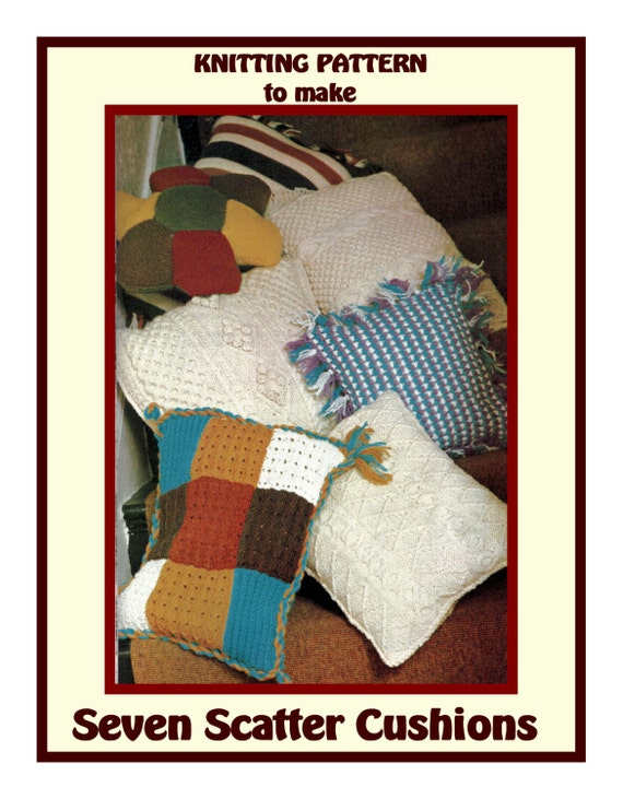 Instant Download PDF Knitting pattern to make 7 Scatter