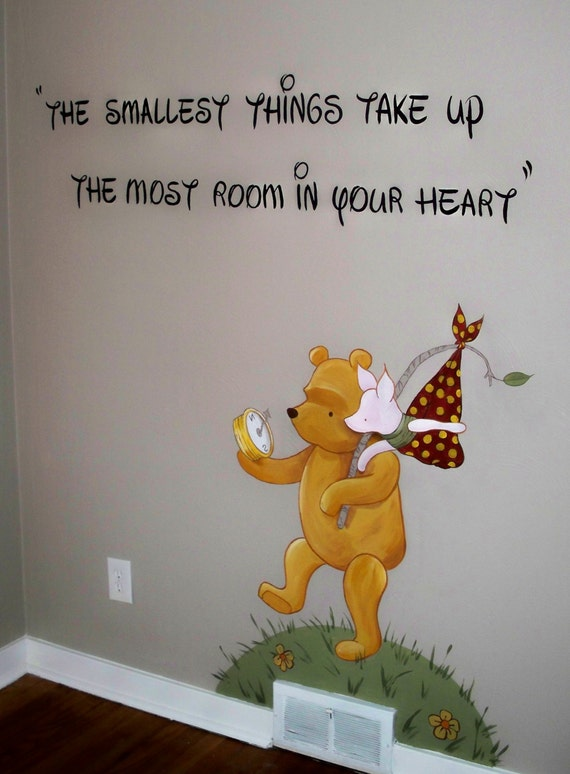 in home estimate for classic winnie the pooh nursery mural