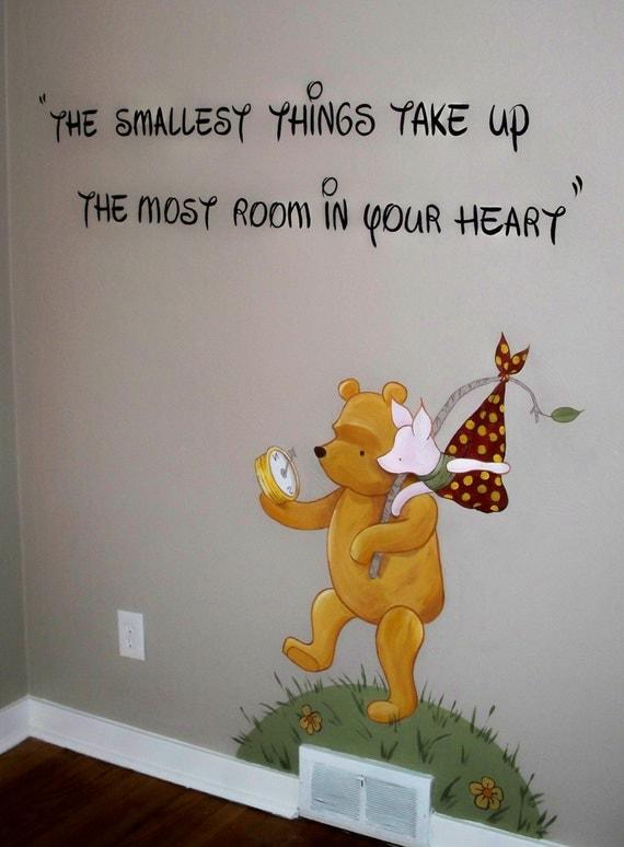 Classic winnie the pooh nursery mural please by for Classic pooh nursery mural