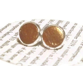 Leather Earrings, Gold Stud Earrings, Leather Jewelry, Leather studs, Mothers Day