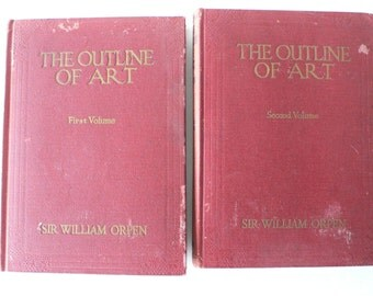 1929 books, The Outline of Art, 2 volumes from Diz Has Neat Stuff