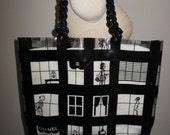 CHANEL Black & Clear Vinyl Shopping Tote w/ Resin Link Chain Straps - RARE