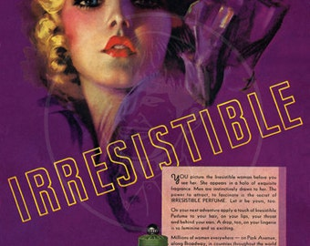 Irresistible Perfume ad (1936) - 10x14 Giclée Canvas Print