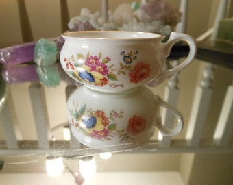 Vintage Bone China Mini Cup by Hammersley of England in Minuet Style