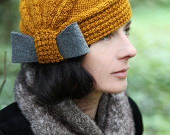Étaín wool hat - A vintage style, hand knit beanie, 100% wool hat