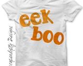 Halloween Iron on Shirt - Eek Boo Iron on Transfer / Kids Halloween Shirt / Spooky Halloween Outfit / Cute Toddler Clothes Digital IT2-P