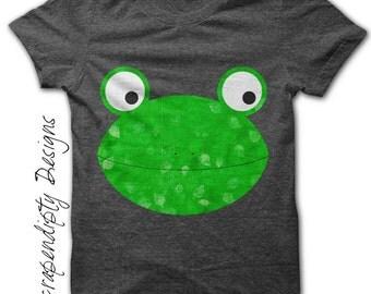 Animal Iron on Printable - Frog Iron on Transfer / Frog Shirt / Hippie Kids Clothing / Cool Kids Tshirt / Printable Digital Images Tee  IT29