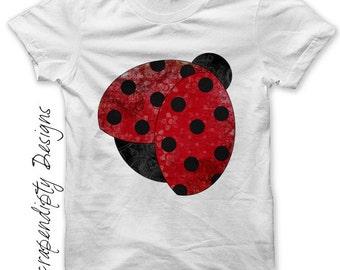 Iron on Ladybug Shirt - Garden Iron on Transfer / Kids Girls Clothing Tops / Baby Shower Gift / Ladybug Birthday / Toddler Clothes IT201-R