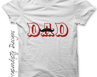 Mustache Dad Iron on Transfer - Iron on Father's Day Shirt PDF / Mens Mustache Shirt / Father Son Clothing / Dad Tshirt / Printable IT178