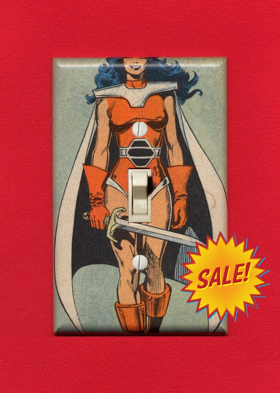 Super Hero Light Switch Plate - Sif