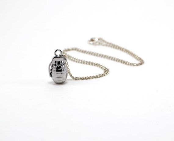 I'd Catch a Grenade for You Charm Necklace