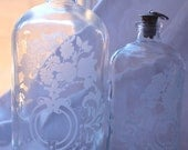 Portugal Chrome Top Glass Decanters
