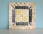 Mod Mosaic Tile Ashtray, Mid Century Ashtray, Retro Tile Ashtray, Mod Tile Ashtray, Mid Mod Ashtray, Mod Retro Catch All, Mid Mod Tile Bowl