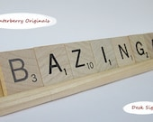 Scrabble Desk Sign - BAZINGA