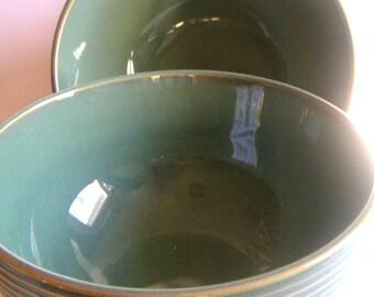 Vintage Celedon Colored Bowls, Rice Bowls,Soup Bowls,Cereal Bowls.Planter for Succulents (Two Bowls)
