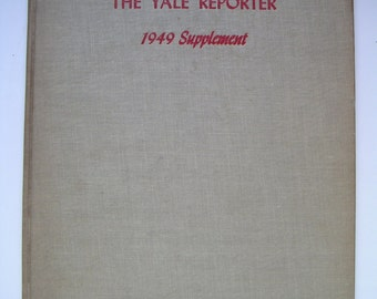 Vintage Yearbook, The Yale Reporter 1949 Supplemental. Yale Law School