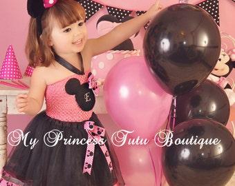 Ribbon Tutu Dress Minnie Mouse Dress Girls Minnie Mouse Tutu Dress Girls Minnie Mouse Tutus Ribbon Tutus
