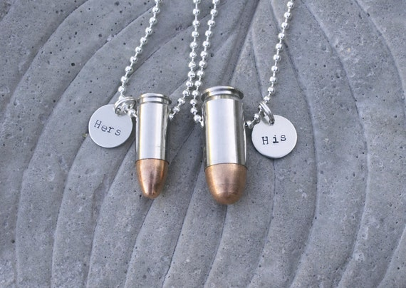 items similar to his and hers bullet jewelry necklaces