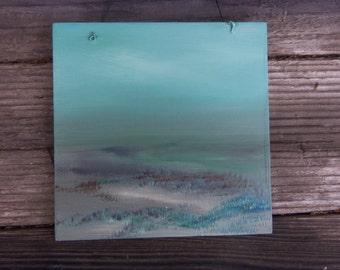 Wall Art Acrylic Landscape Painting Faint Memory 7x7x1