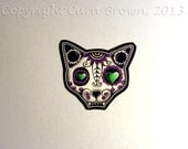 Cat Sugar Skull Window Sticker Vinyl Day of the Dead IPhone case Decal add to family set