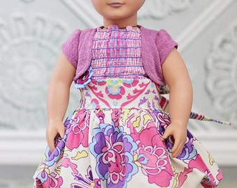 """Daphne's 18"""" Doll Bubble Skirt and Top PDF Pattern"""