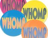 "1 1/2"" HULA HOOP pinback BUTTON - Whomp"