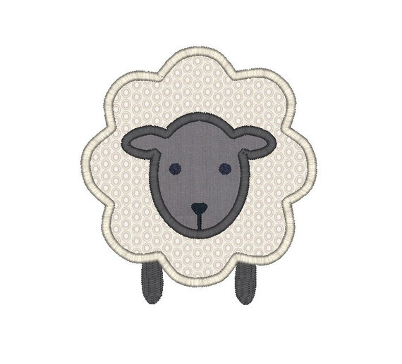 Lamb Applique Embroidery Design