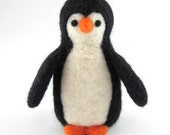 Penguin Needle Felted Soft Sculpture Animal Ornaments