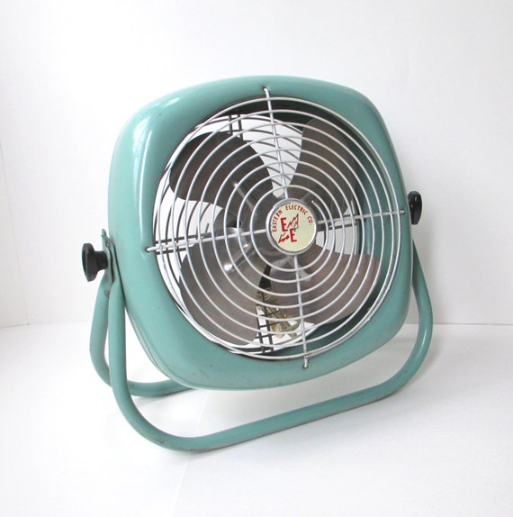 Retro Electric Fans : Vintage mid century industrial box floor fan working