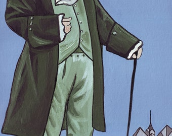 Big Ben // Ben Franklin Philadelphia pun art -  art print