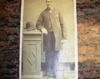 Vintage CDV Photograph Edwardian Gentleman 1800s
