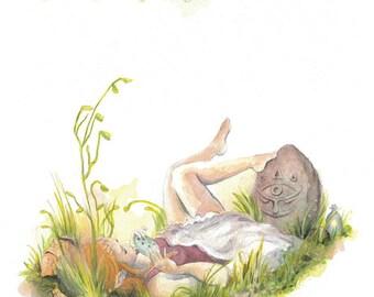 Zelda - Ocarina of Time 12x18 illustration print