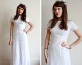 Vintage Brautkleid / 60er Jahre Hochzeitskleid / Lace Hochzeitskleid / klein / XS