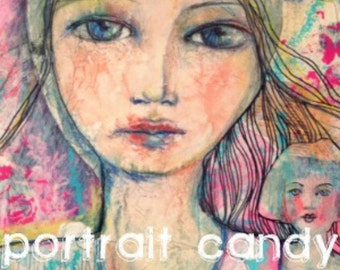 Art Eye Candy WORKSHOP - Portrait Candy mixed media workshop
