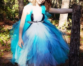 Alice In Wonderland Halloween Costume - Alice In Wonderland costume - Birthday Outfit - Tutu Dress - Pageant Costume - Wonderland Dress