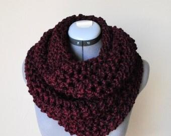 SALE - Wool Infinity Scarf- OXBLOOD