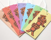 Teddy Bears Swing Tags Gift Tags set of 7