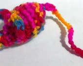 Rainbow colored Mouse Cat toy. crinkly or rattle, cat nip. pride bright