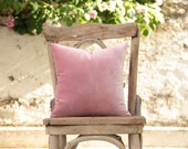 """Blush pink / Pale pink / powder pink silky velvet pillow cover 14"""" x 14"""""""