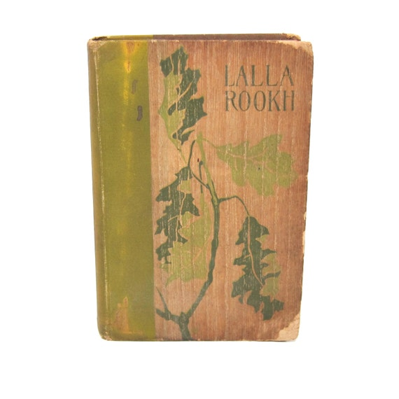 Antique Book Lalla Rookh Thomas Moore Wood Cover 1898