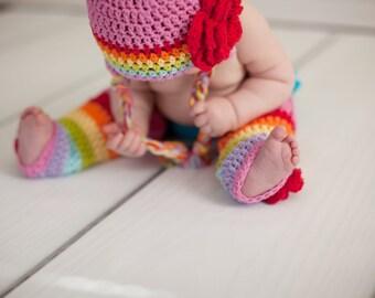 Baby leg warmers, rainbow leg warmers, crochet leg warmers, girls leg warmers, baby legwarmers, legwarmers, baby legs