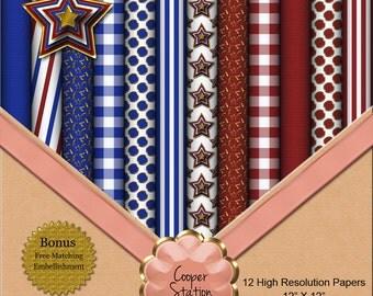 DIY Patriotic Paper Pack DP015