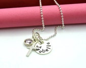 SALE • Cross Necklace • Baptism Gift • Easter Gift • First Communion Necklace •Little Girls Baptism Necklace•Personalized Silver Cross Charm