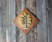 RESERVED for Megan - Syroco Wood Danish Modern - Vintage Orange Tree Wall Hanging 3-D