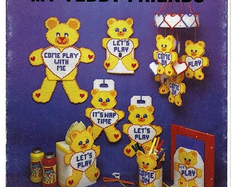 My Teddy Friends Plastic Canvas Pattern  The Needlecraft Ala Mode 124