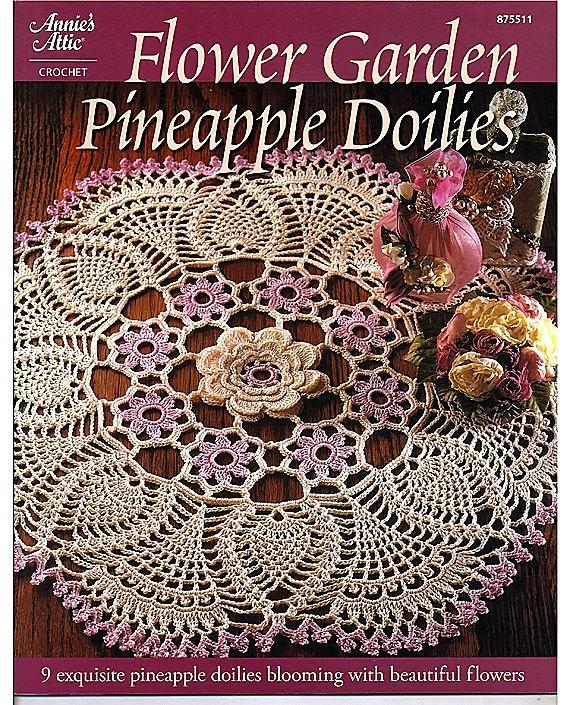 Flower Garden Pineapple Doilies Crochet Pattern Annies Attic
